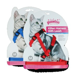 "Pawise Kitten Harness Leash-Red""Blue"